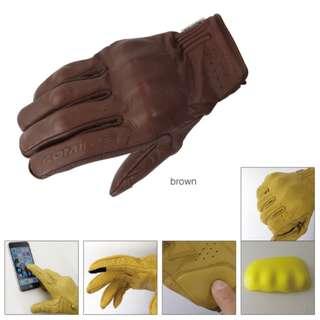 Komine GK179 GK-179 leather vintage gloves