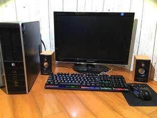 電腦組 惠普hp Elite 8000中階商務娛樂機組 影音遊戲娛樂商務CP值好選擇