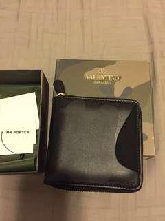 VALENTINO black camo wallet