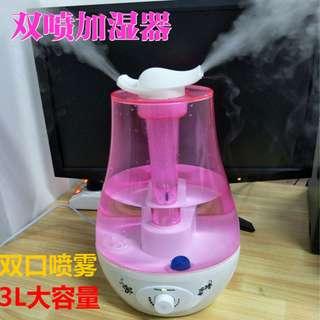 [廠商直銷]3L雙噴頭噴霧器 噴霧機 SPA美容 水霧機 霧化器 精油機 負離子 芳香機 加濕器 加濕機 造霧機
