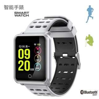 【隆重推介】WHATSAPP WECHAT 信息顯示/來電提示/血壓心率監測/計步器/睡眠監測 /遙控影相 Bluetooth Smart Watch IP68