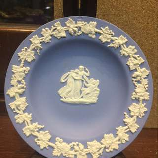 Vintage Wedgwood Jasperware Pin Dish Tray Cupid and Maidens Motif