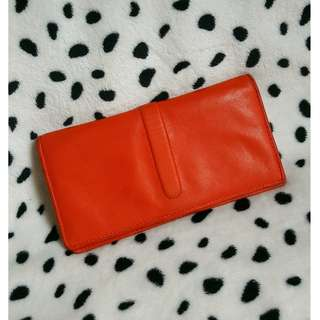 Genuine leather long wallet