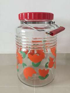 Vintage Glass Candy/Biscuit Container