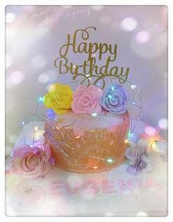 Led燈玫瑰花蛋糕