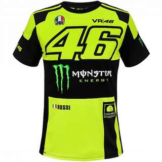 Motogp 46 VR46 VR Rossi M1 racing T shirt short sleeve T-shirt sponsor monster energy agv