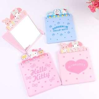[Instock] Hello Kitty / My Melody / Doraemon Desktop Flip Mirror