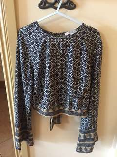 Forever 21 Boho Cropped Top (Size M)