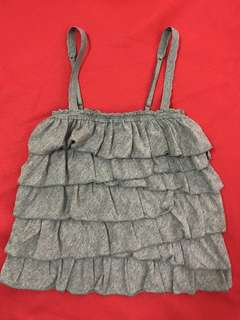 Hollister Sleeveless Top Gray