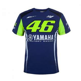 Motogp 46 VR46 VR Rossi M1 racing T shirt short sleeve T-shirt sponsor yamaha factory racing YZR
