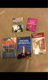 Assorted travel guides- $2 each