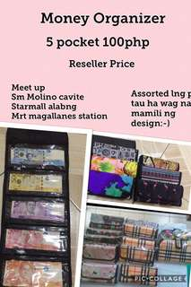Money organizer 5 pockets-100php