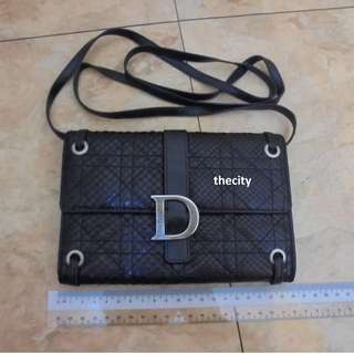 AUTHENTIC DIOR PHTHON SNAKESKIN SLING MESSENGER BAG