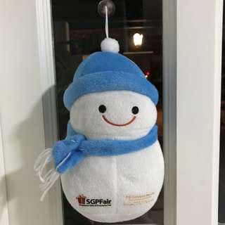 hanging snowman soft toy