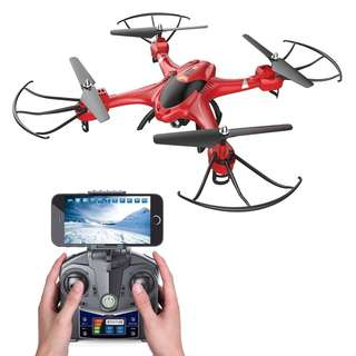 319 (Brand New) Holy Stone HS200 FPV RC Drone with HD Wifi Camera Live Feed 2.4GHz 4CH 6-Axis Gyro Quadcopter with Altitude Hold, Gravity Sensor and Headless Mode RTF Helicopter, Color Red
