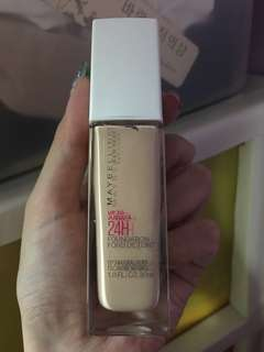 Maybelline Superstay full coverage foundation in shade 112 natural Ivory