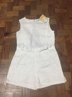 Gingersnaps White Romper with Bow