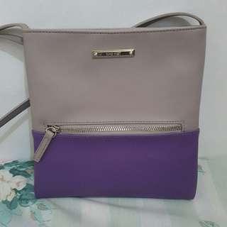 💯 Auth NINE WEST Crossbody Bag (Grey + Purple)