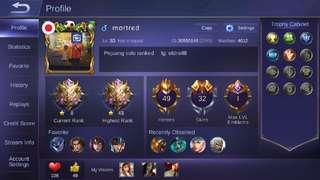 Dijual id mobile legends murah