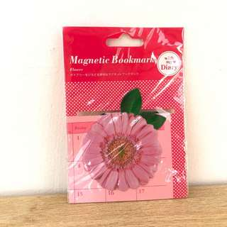 Pink Flower Magnetic Bookmark
