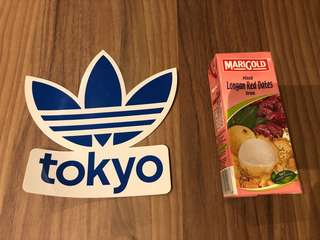 Adidas sticker - great for laptops or lockers