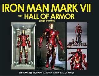 SALE URGENT!! NEW SEALED HOT TOYS IRON MAN MARK VII WITH HALL OF ARMOR