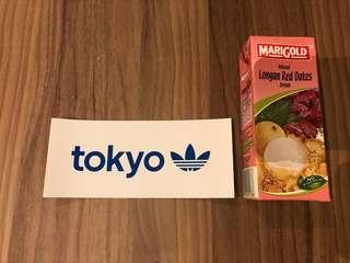 Adidas Tokyo sticker