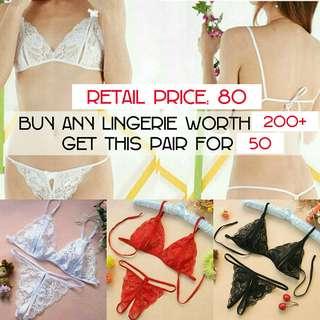 SL060 Crotchless Lace Bikini Set