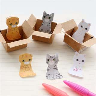 🌟BN INSTOCKS Assorted Adorable Cat Post-Its