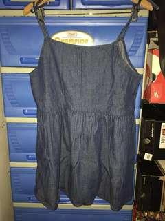 Denim mini dress - Large
