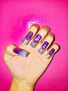 Sprinkle Candies Press On Fake Nails