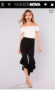 Fashion Nova Ruffle Pants