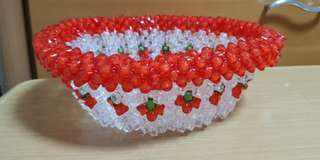 Beaded fruit bowl