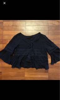 black bohemian top