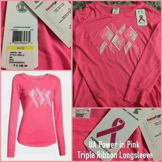 UA Women's Power in Pink Tripple Ribbon Longsleeve ORIG
