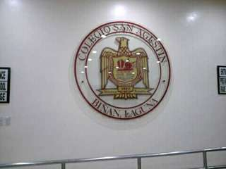 San Agustin College LOGO Glass Etched