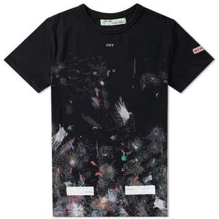 *STEAL* Off White Galaxy Brushed Tee