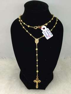 Saudi Gold 18k Rosary Necklace