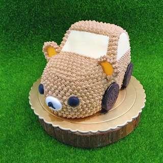 鮮奶油蛋糕:拉拉熊車車