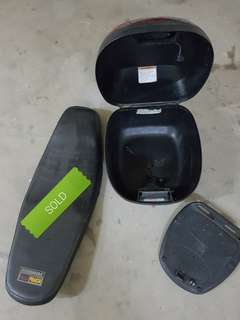 Givi Box small and flat seat(sold)