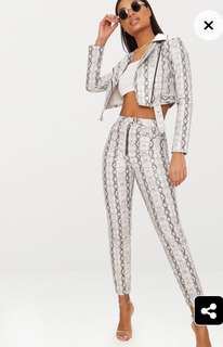 Pretty Little Thing Snake Print Pants