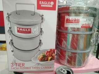 3 tier 14cm flexible tiffin carrier