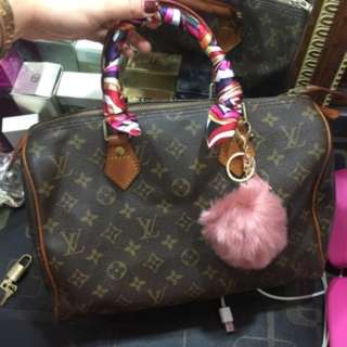 REPRICED! Preloved LV speedy 30! Free twilly and charm! With code!