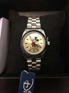 全新 日本景品 迪士尼 米奇手錶 女裝鋼帶錶