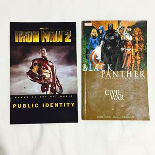 Marvel Comics (2) - Iron Man, Black Panther