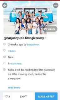 Repost @baejoohyun 's Giveaway!