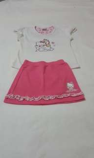 Hello kitty terno blouse and skirt