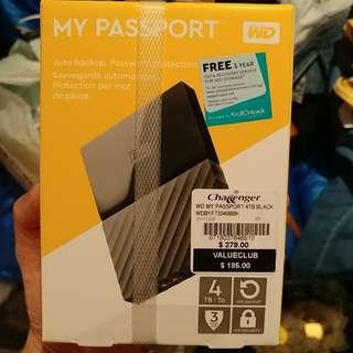 Portable hard drive 4TB