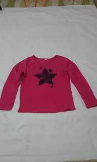 Hot pink Long sleeves