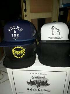 Trucker Hat / Topi Jaring, Brand Asgood Bandung Original